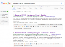 pencarian google Bersama Untan Membangun Negeri