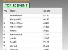 top 10 event TTS Untan Periode I